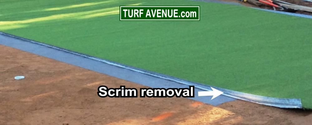 puting green scrim removal